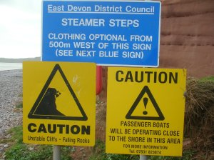 Budleigh Salterton's twin warnings