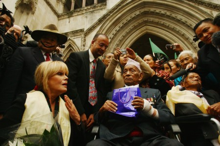 Lumley campaigning for the Gurkhas