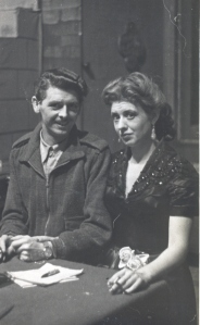 Pat Phoenix (Pilkington) and my father's second cousin, early 1950s