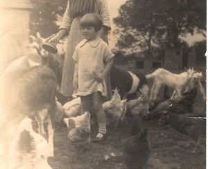 My mother, aged 4, on holiday in 1926